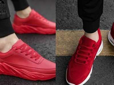 男士红色运动鞋搭配裤子图 男生红色运动鞋怎么搭配衣服这3种十分百搭