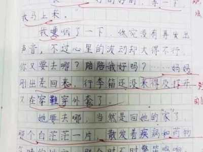 """我想日我妈妈 连云港五年级女生写作文""""吐槽""""医护人员妈妈"""